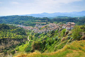 Panoramic view of Tursi. Basilicata. Italy.