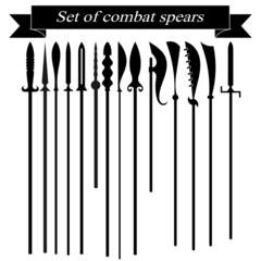 Set of silhouettes combat copies