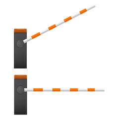Black Mechanical barrier