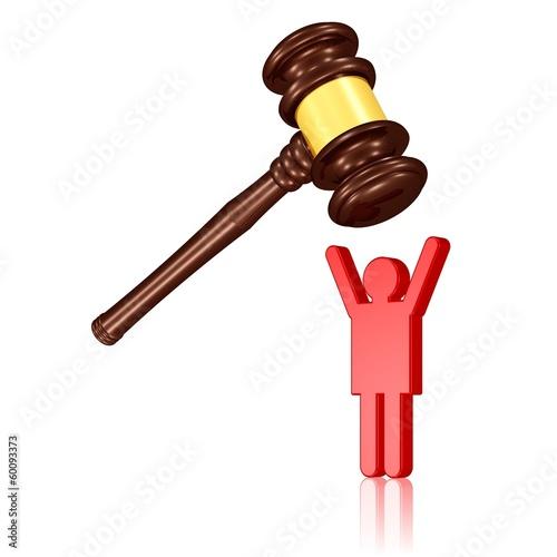 Verurteilung eines Straftäters oder Opfer der Justiz