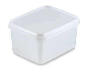 white plastic container(clipping path)