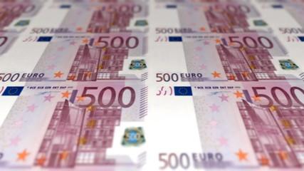 Money Euro 500 banknotes pan loopable