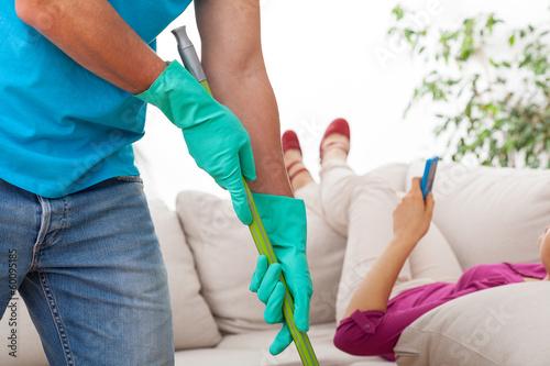 Man helping at home