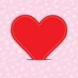 Valentines Day background with red heart