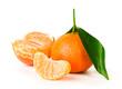 Ripe tangerine with clove