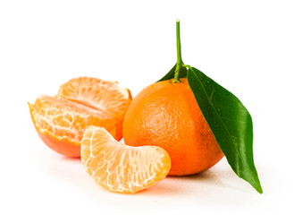 Ripe tangerine with clove