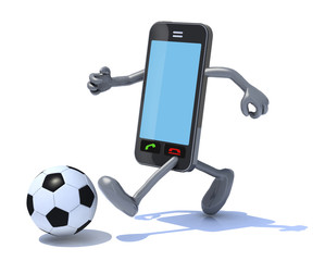 smart phone that play soccer