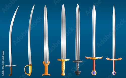 set weapons, vector illustration