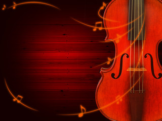 Music background with violin