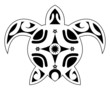 tattoo of a turtle, tribal polynesian
