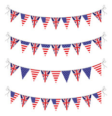 usa and uk bunting set