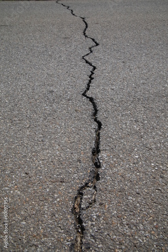 crack tarmac road