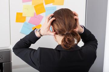 Modern woman is shocked of big number of tasks