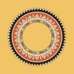 Egyptian national antique round pattern, vector.