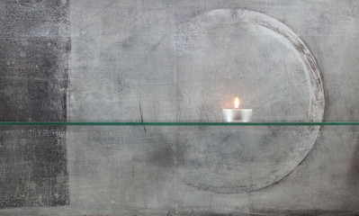 Kerzenlicht minimalistisch