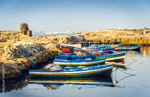 Poster Tunesië Ancient Phoenician Port of Mahdia