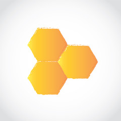 honey comb icon vector