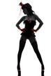 sexy woman stripper showgirl  silhouette