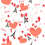 Romantic seamless vector pattern