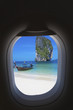 concept voyages par avion, Poda Island, Thaïlande