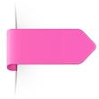 Langer rosa Sticker Pfeil mit Schatten und Textfreiraum