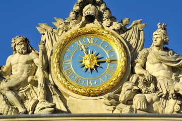 Clock of the castle of Versailles