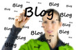 Blogger writing - Blog - on a virtual interface