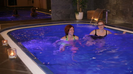 Women exercising in wellness and Spa swimming pool