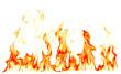Leinwandbild Motiv Fire flames isolated on white background