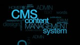 CMS content management system word tag cloud animation
