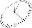 Clock isolated on white background - 60102345