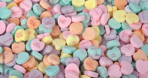 Fotobehang Snoepjes Candy Hearts