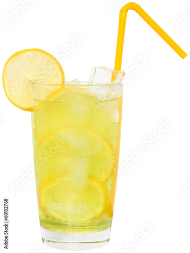 Fotobehang Cocktail Lemonade with ice cubes