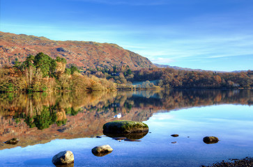 Hills reflected in Grasmere