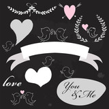 chalkboard  Valentine's Day set