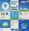 Modern blue ecology Design Layout