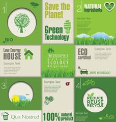Modern green ecology Design Layout