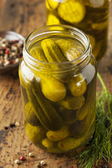 Homemade Organic Crunch Green Pickles