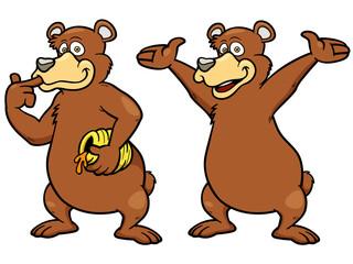 Vector illustration of Cartoon brown bear