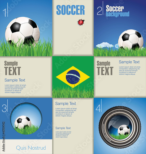 Modern soccer background
