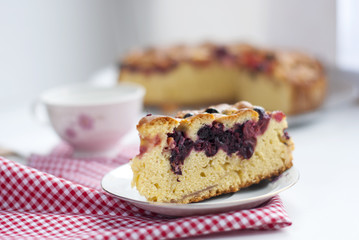 piece of cake with cherries