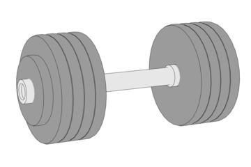 cartoon illustration of weights (fitness)