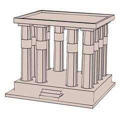 cartoon image of egyptian house