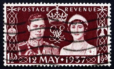 Postage stamp GB 1937 King George VI and Queen Elizabeth