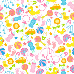 Baby Seamless Pattern Background
