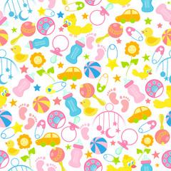 Baby Seamless Pattern Background