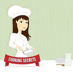 Woman chef illustration