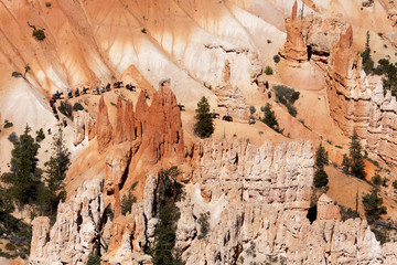 Stunning landscape of Bryce Canyon, horseback riding