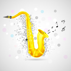Abstract Music Background with Saxophone