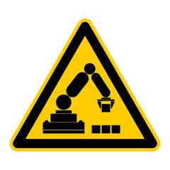 Symbol Feststehender Roboter mit 270 Grad Wirkungskreis rws3